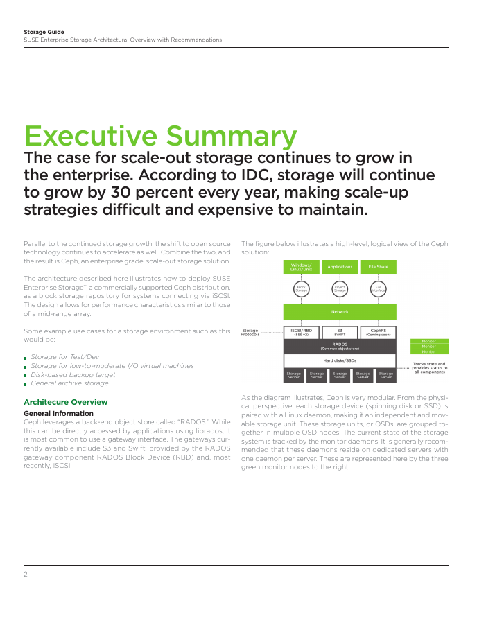 Architectural Overview: SUSE Enterprise Storage