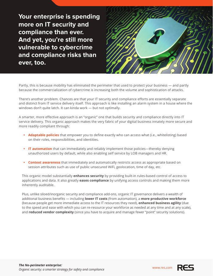The No-perimeter enterprise: A smarter strategy for safety and compliance
