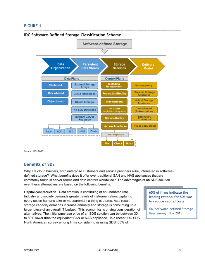 IDC White Paper: Leverage SUSE Enterprise Storage for HPE Apollo and ProLiant