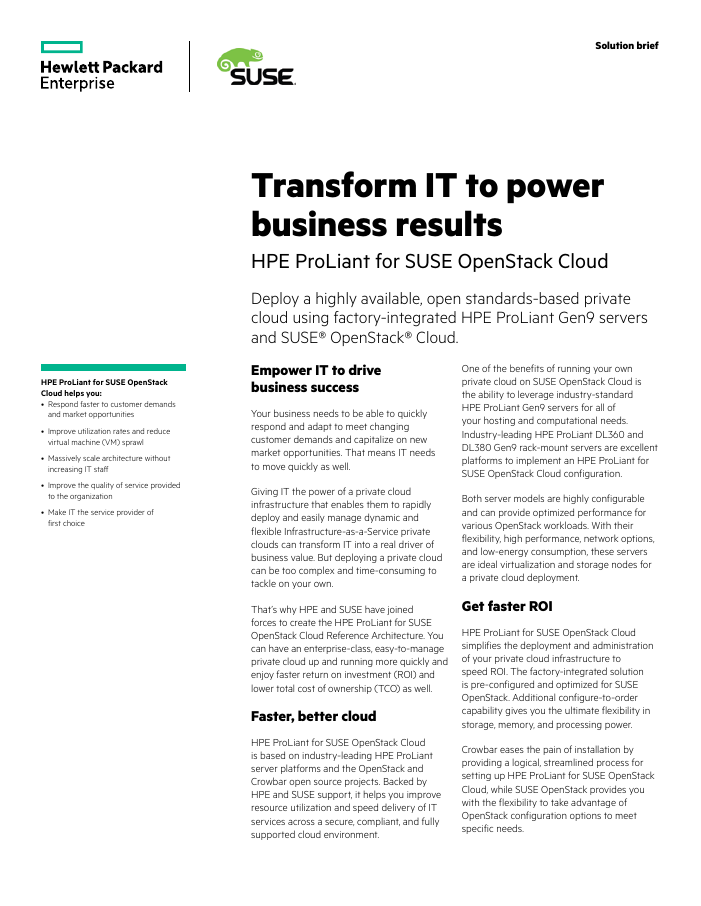 Solution Brief: Transform IT to power business results