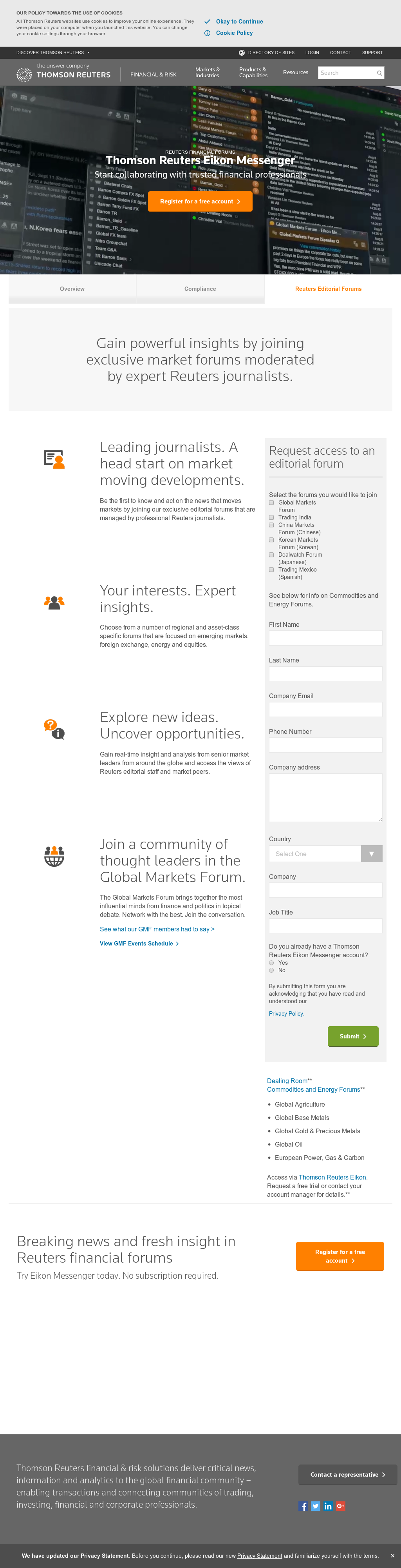 Join The Global Markets Forum