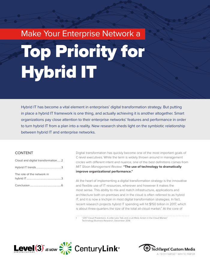 Top Priority for Hybrid IT
