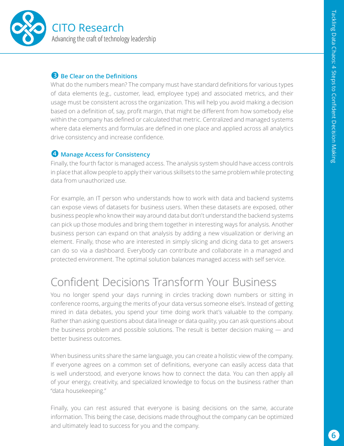 White Paper: Tackling Data Chaos - 4 Steps to Confident Decision Making