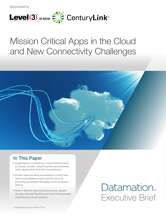 Mission Critical Apps in the Cloud and New Connectivity Challenges